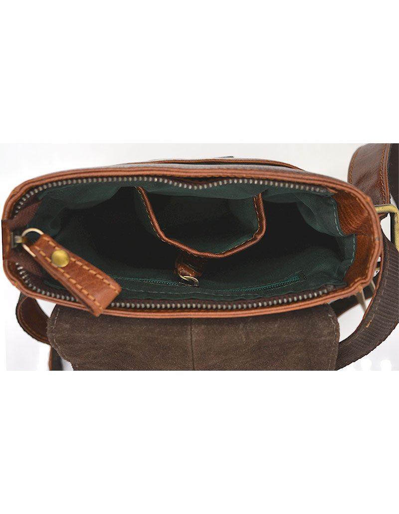 Vintage Leather Cross-body/ Messenger Bag