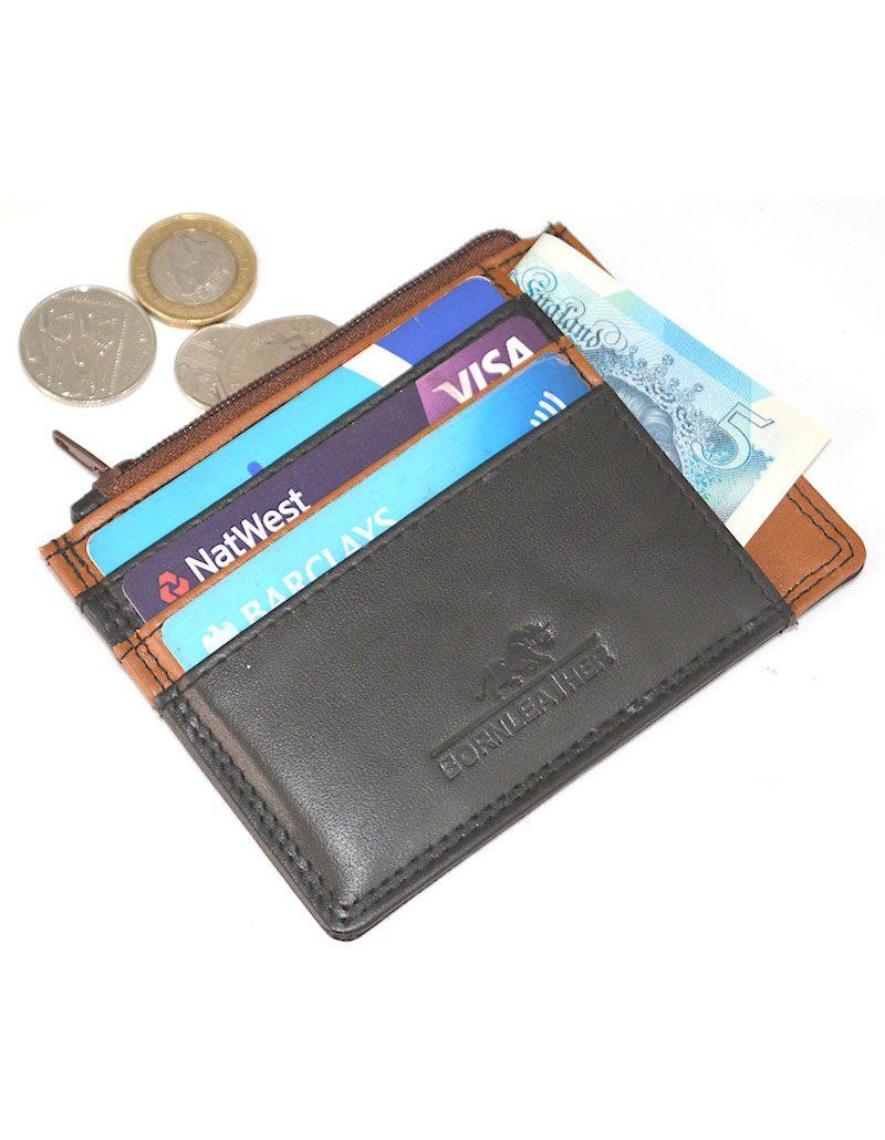 Traveller Leather Card Holder/Coin Wallet