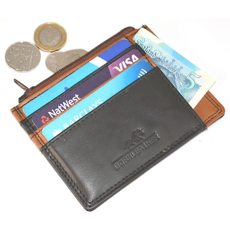 Traveller Leather Card Holder/Coin Wallet