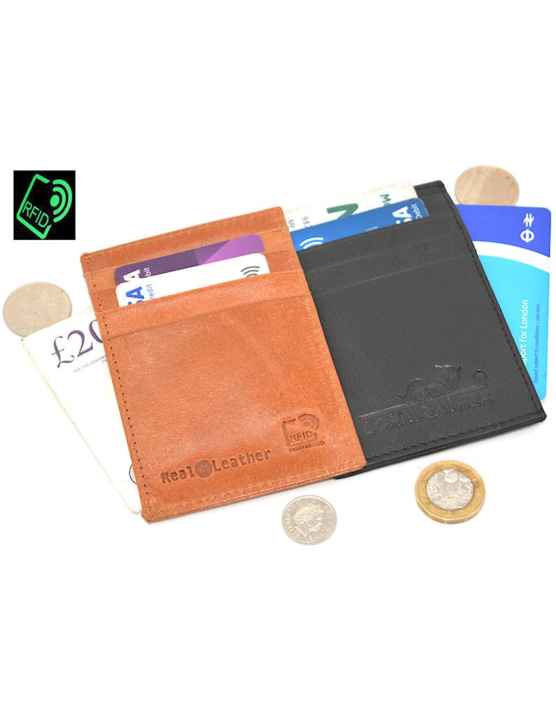 Real Leather Vertical Card Holder