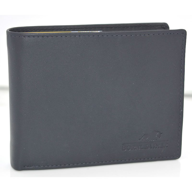 Navy Blue Mens Leather Wallet