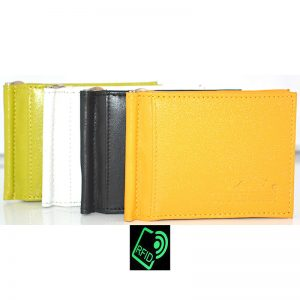 RFID Bi-fold Money Clip Wallet