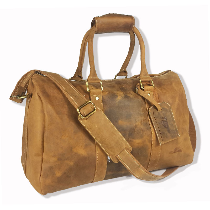 Genuine Vintage Leather Large Gym/Duffel Bag